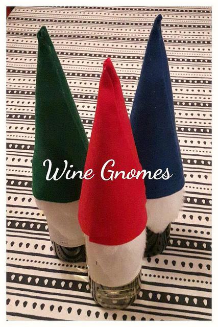 Felt wine gnomes