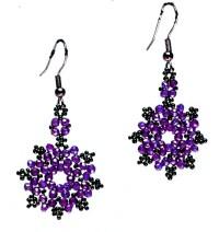 Free pattern for beautiful beaded earrings Daisy | Beads Magic