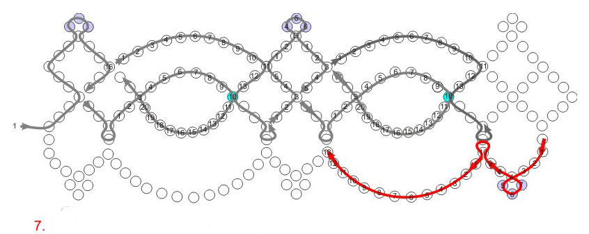 Free pattern for beautiful beaded necklace Summer Day