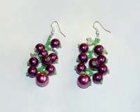 Free pattern for beaded earrings Currant | Beads Magic