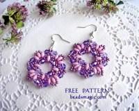 Free pattern for earrings Dulce | Beads Magic