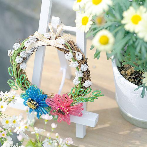 ビーズマニア リース お花