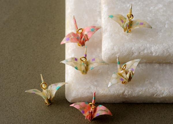 ビーズマニア 折鶴 パーツ 鶴 和紙