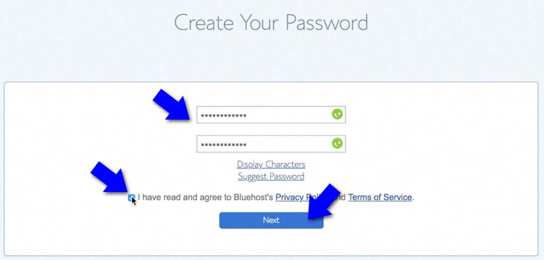 Create Your Password - How To Start A Blog Business And Get Paid