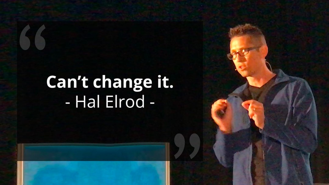 "Mindset Of A Business Owner - Hal Elrod Quote ""Can't change it"""