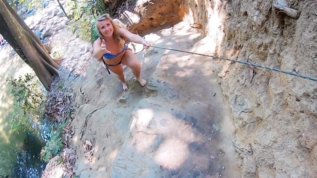 Pozo Azul - Erin Climbing Rocks