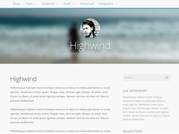highwind wordpress theme