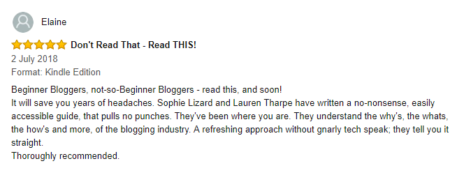 A 5 star review of the book How to Pitch a Blog Post