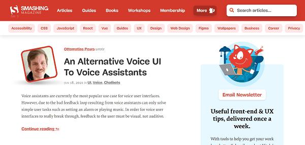 Smashing magazine and blog hire writers for freelance tech writing jobs