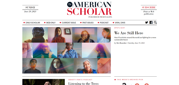 The American Scholar magazine hires freelance writers for science and tech writing jobs