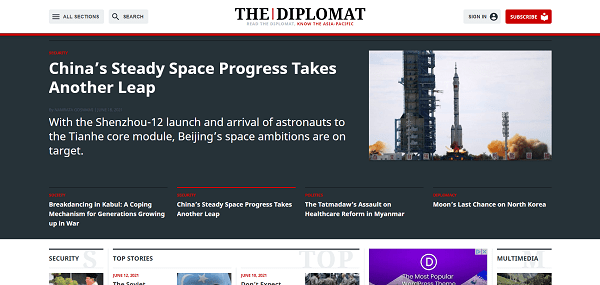 The Diplomat pays writers for freelance science and tech writing jobs