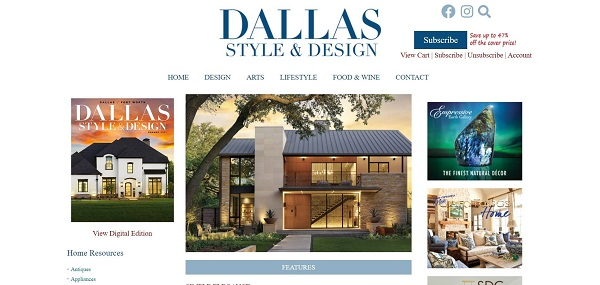 Dallas Style and Design magazine pays freelance writers for design writing jobs
