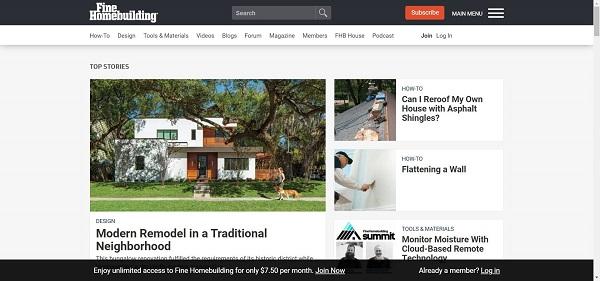 Fine Homebuilding magazine hires writers for freelance design writing jobs.
