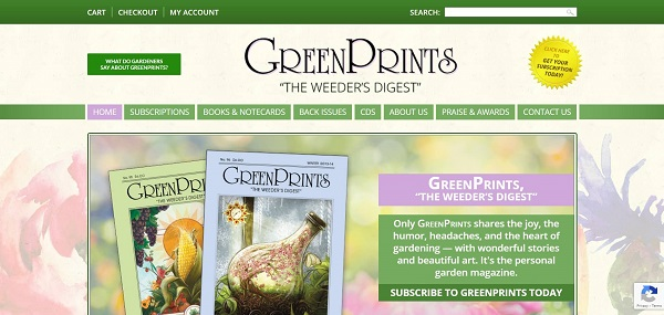 Green Prints magazine pays freelance writers for garden writing jobs