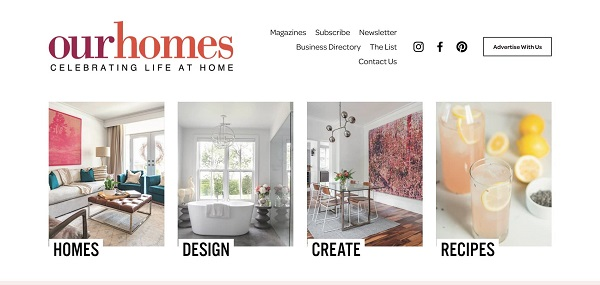 Our Homes magazine hires freelance writers for design writing gigs.