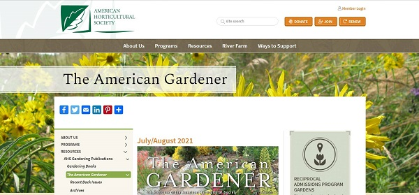 The American Gardener hires freelance writers for gardening gigs.