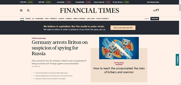 Financial Times hires freelance writers for tech writing jobs
