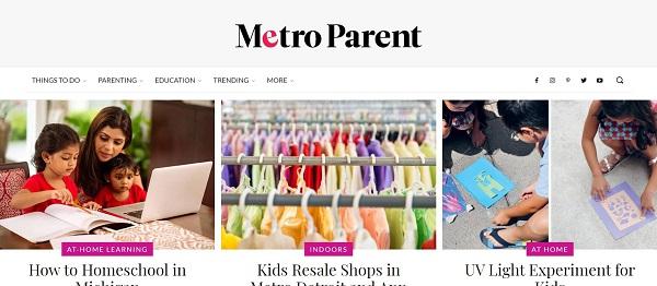 Metro Parent magazine pays freelance writers for food writing jobs