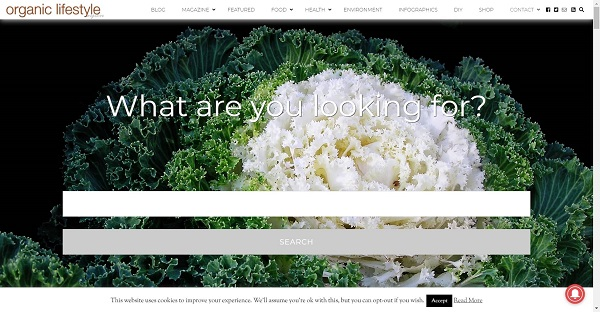 Organic Lifestyle pays writers for freelance food writing jobs