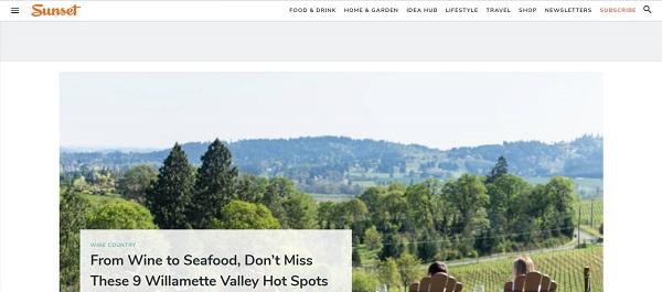 Sunset magazine pays freelance writers for food writing gigs