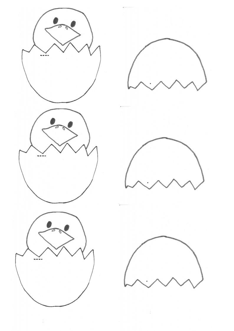Easter Craft: Hatched Egg Chicky (template)