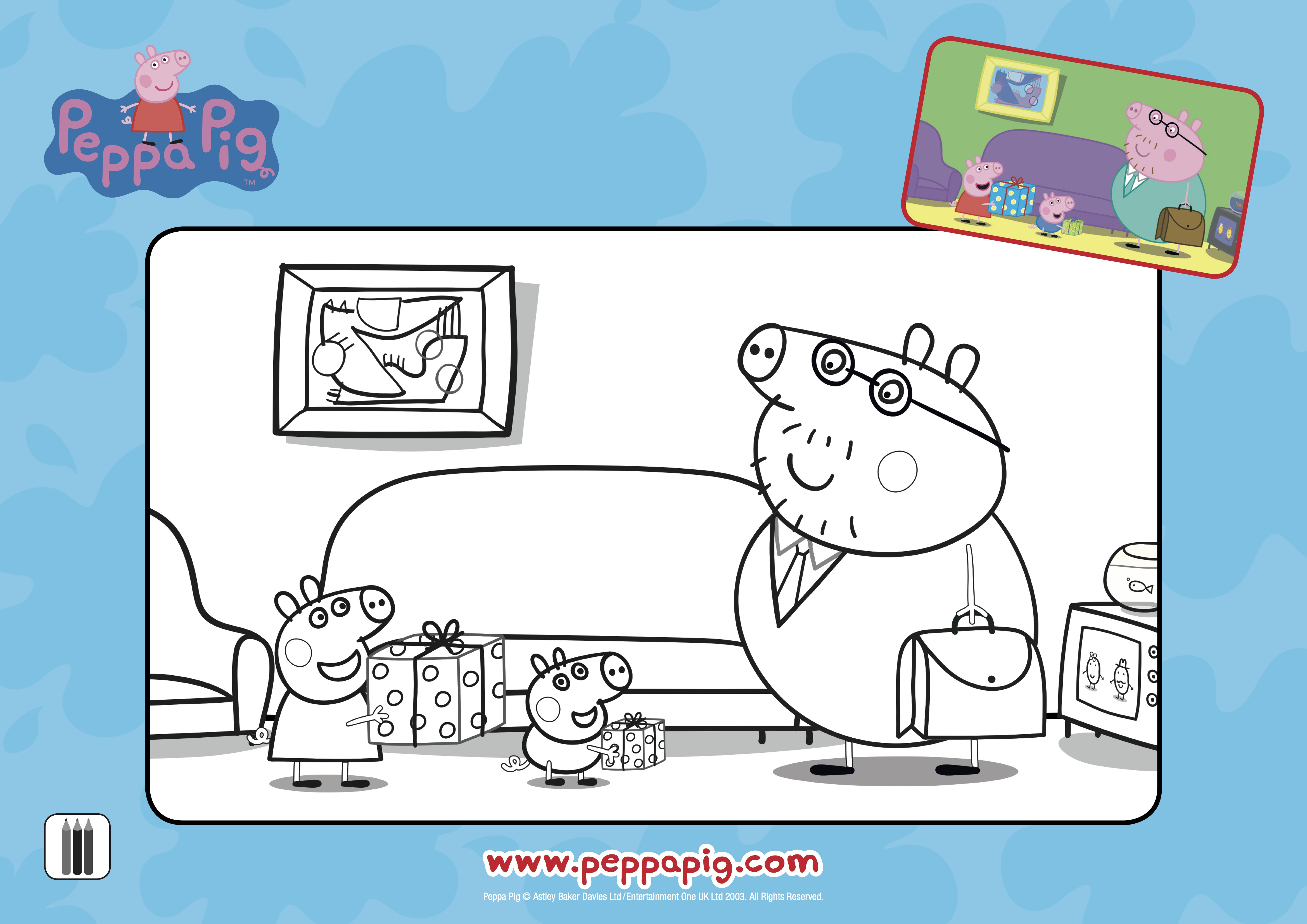 Peppa Pig Father S Day Printable