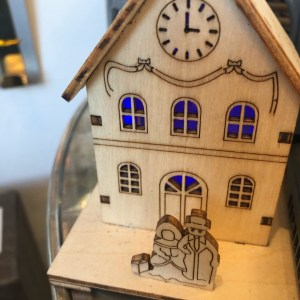 Mini Light Up Wooden Houses