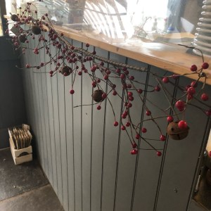 Red Berry & Metal Bell Garland