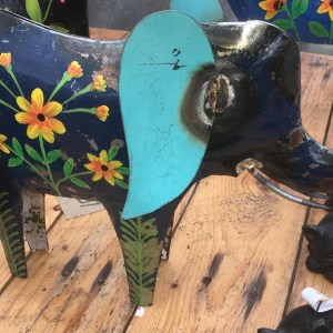 Fairtrade Metal Painted Elephant