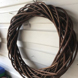 Wicker Wreath Small Round