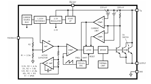 Switched load test with a modified DC-DC converter