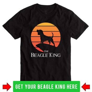 beagle king t-shirt