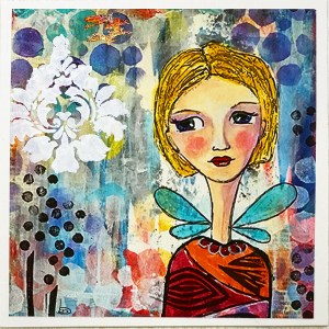 Art Print Whimsical Girl Abby