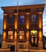 Beacon building at dusk