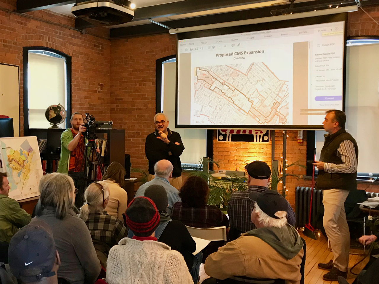 Lee Kyriacou and David Jensen presenting
