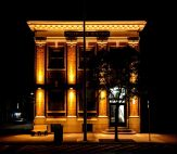 Telephone Building at night