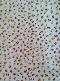White mini flowers fabric