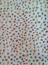 White mini flowers fabric