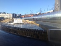 Water features at Sheffield train station