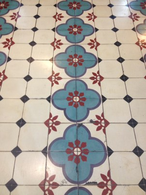 Pretty tiles in KL's Central Market