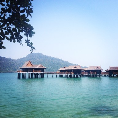 Sea villas in the sunshine, Pangkor Laut