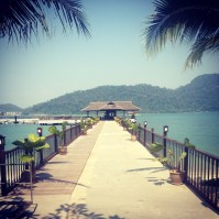 The jetty at Pangkor Laut