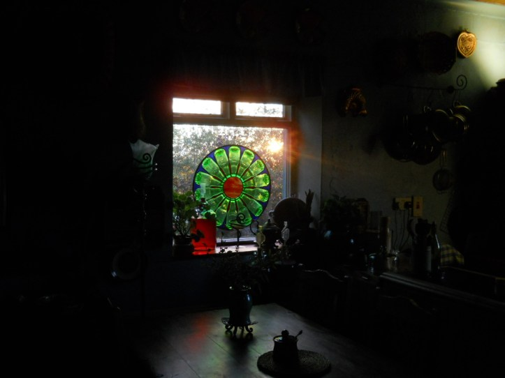 stained glass wheel of life Bealtaine Cottage 011