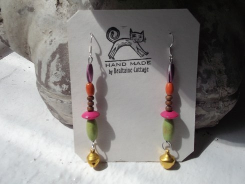 Hand made earrings from Bealtaine Cottage