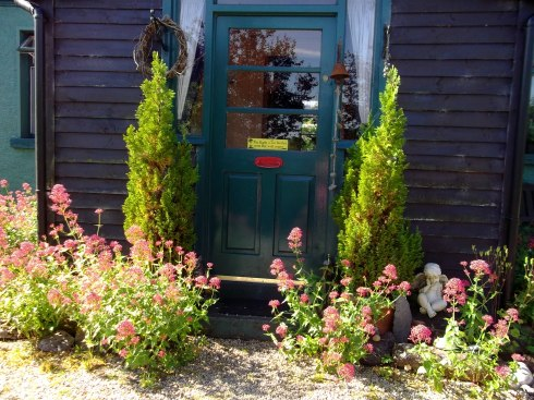 Front door at Bealtaine Cottage