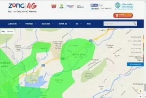 Zong 4G Coverage Map