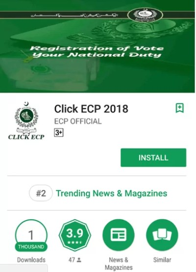 Click ECP, Election Commission Launches Click ECP App to Help Voters