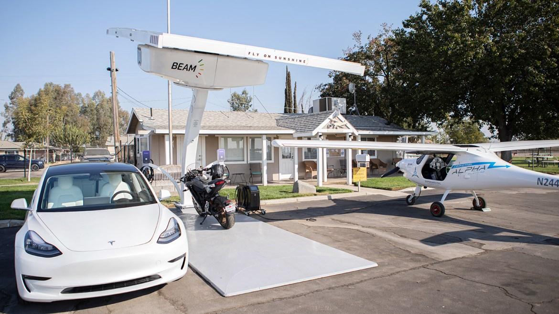 Beam-EV ARC-Flying on Sunshine-EV Emotorcycle Eplane July 2021