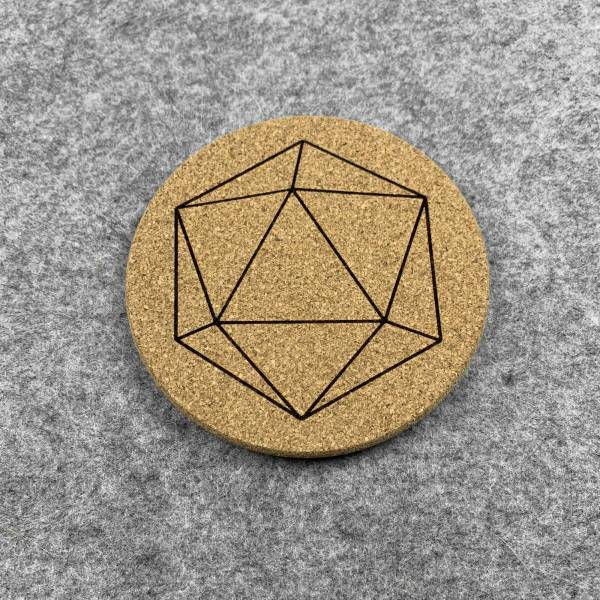 D20 - 20 Sided Dice Coaster