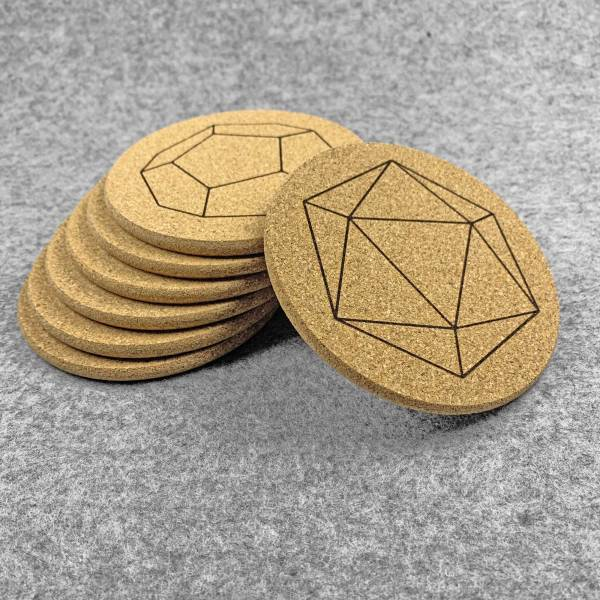 Stack of 7 Dice Coasters